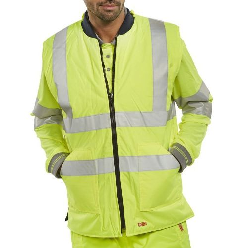 BSeen Yellow Hi Vis Reversible Bodywarmer